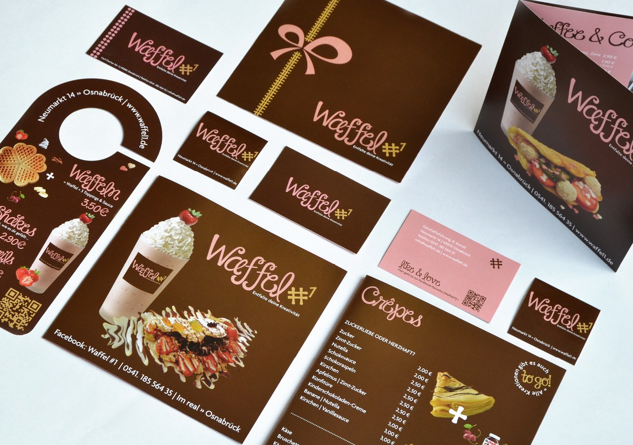Werbeagentur Osnabrück click-werk Design Gestaltung Namensfindung und Logodesign Visitenkarte Briefpapier Interieurgestaltung Speisekarte Menüboard Food-Truck Fahrzeugfolierung Verkaufsstand Arbeitsbekleidung Stempelkarten Stempel Plakate Kundenstopper