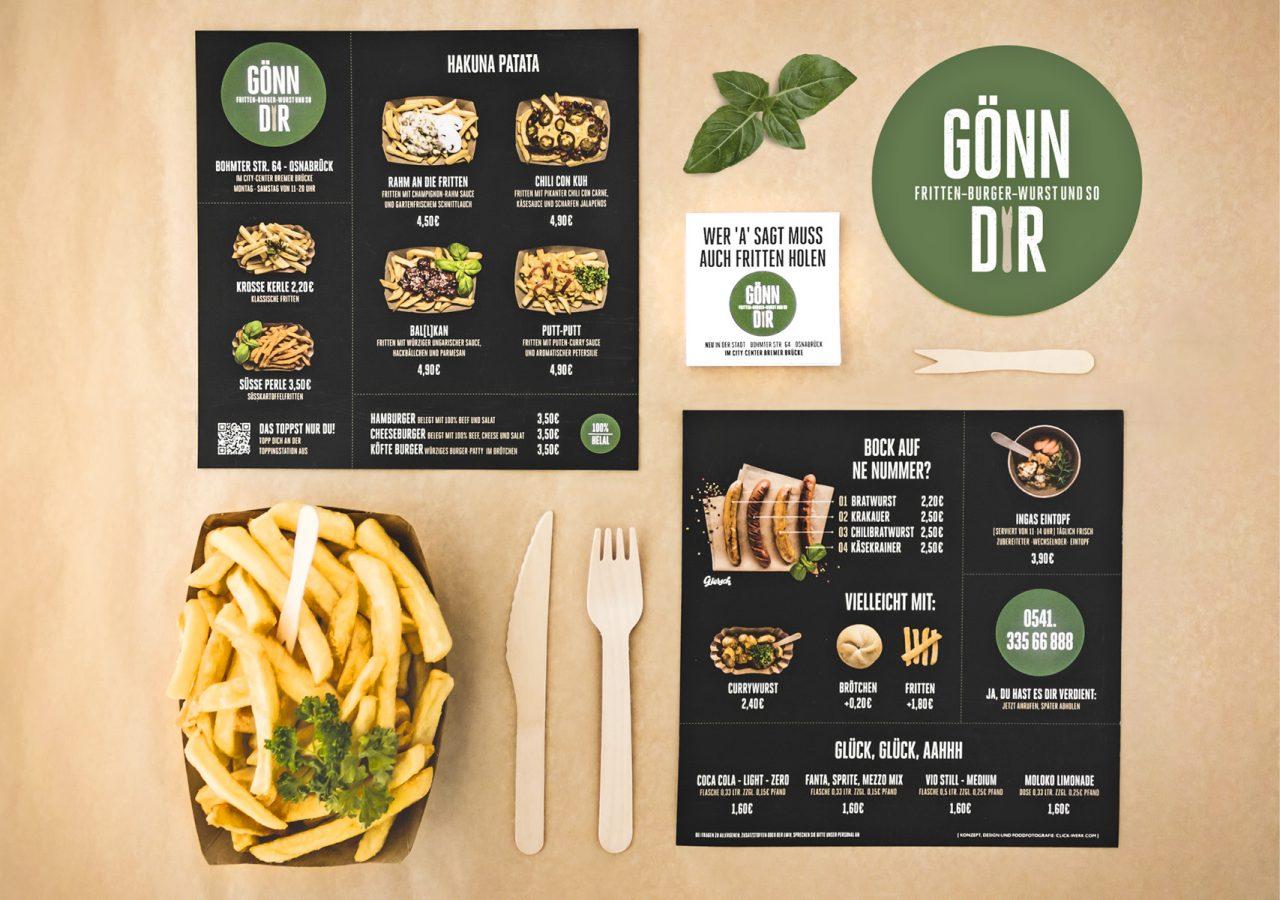 Werbeagentur Osnabrück click-werk Design Gestaltung Neueröffnungs-Kampagne Neueröffnung Kampagne Foodshooting Shooting Speisekarte Innenwerbung Aussenwerbung
